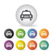 Taxi symbol  button set — Stock Vector