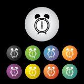 Alarm clock icon set — Stock Vector