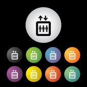 Lift button set — Stock Vector