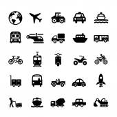 交通工具图标集 — 图库矢量图片