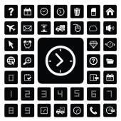 Time and technology  icon set — Stock Vector