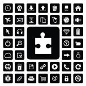 Sticksåg och teknik ikonuppsättning — Stockvektor
