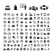 Business ikonuppsättning — Stockvektor