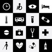Hospital icons set — Stockvector