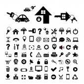 家里的钥匙和车钥匙符号 — 图库矢量图片