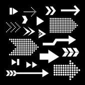 Arrow set symbol — Stock Vector