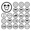 Delivery icons set — Stock Vector #55296587