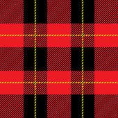 Red seamless tartan plaid  pattern — Stock Vector
