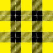 Yellow tartan plaid pattern — Stock Vector
