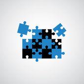 拼图游戏符号 — 图库矢量图片