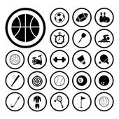 Sports and exercise icons set — Stock Vector