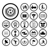 Football icon set — Stock Vector