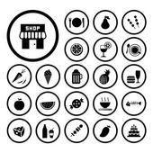 Food and drink icon set — Stock Vector