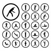 Body exercise  icon — Stock Vector