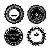 Retro vintage badges — Stock Vector