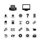 Dator och teknik ikonuppsättning — Stockvektor