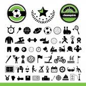 Sports icons set — Stock Vector