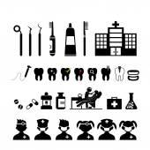Dental icons set — Stock Vector
