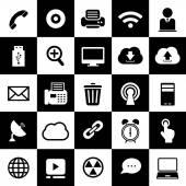 Technology interface icons — Vector de stock