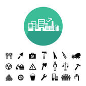 Construction team  icons — Stock Vector