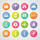 Tourism symbols — Stock Vector