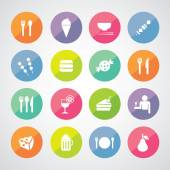Food and drink icons — Stock Vector