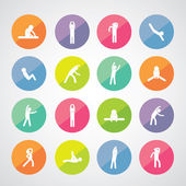 Body exercise  icons — Stock Vector