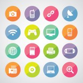 Icons technology set — Stock Vector