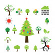 Christmas tree icon set — Stock Vector #59133981