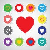 Heart shape symbols — 图库矢量图片