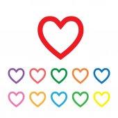 Heart shape symbols — Stockvector
