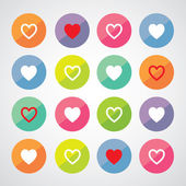 Heart shape symbols — Vecteur