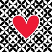 Heart shape card design — Wektor stockowy