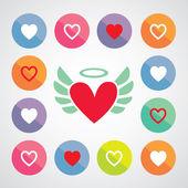 Καρδιά σχήμα σύμβολο σχεδίασης — Διανυσματικό Αρχείο