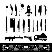 Weapons symbol set — Stock Vector