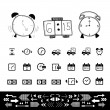 Delivery icons set — Stock Vector #66923177