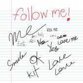Follow me  written icons — Stock Vector