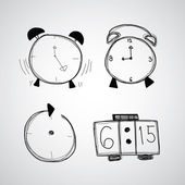 Time, clock icons — Stock Vector
