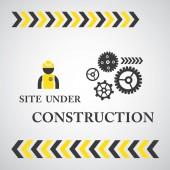 Site under construct symbols — Stock Vector
