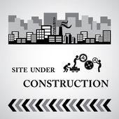Site under construct symbol — Stock Vector