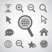Magnification icon set — Stock Vector