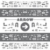 Arrow sign icons — Stock Vector