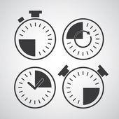 Zestaw ikon czasu — Wektor stockowy