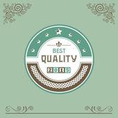 Vintage badge or label — Vetor de Stock