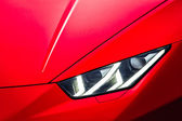 Sport car headlight — Stock Photo
