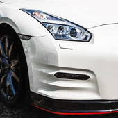 Sport car headlight — Stock Photo