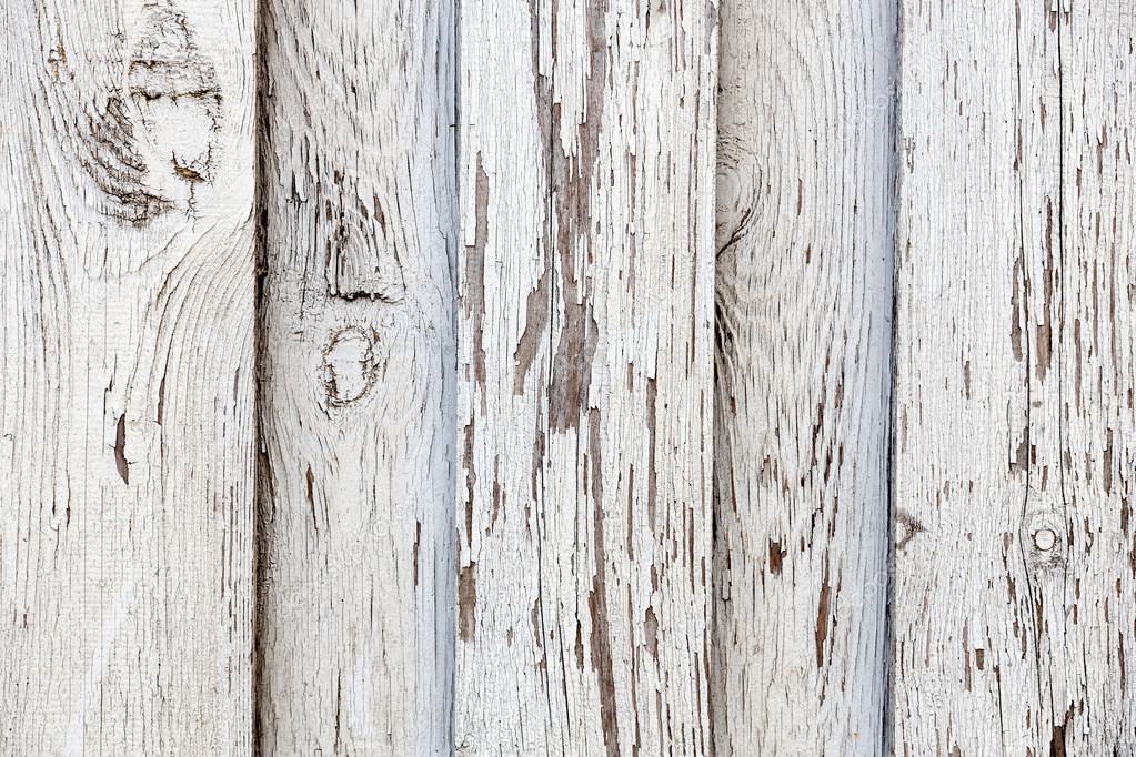 白色木板的复古或油渍背景纹理