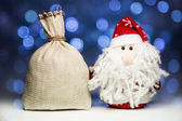 Santa Claus or Father Frost and sack — Stock Photo