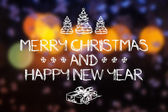 Merry Christmas and New Year greeting card — Stock Photo
