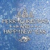 Merry christmas ve yeni yıl tebrik kartı — Stok fotoğraf